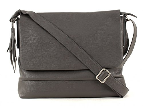 Leonhard Heyden, Jost Adult Vika Shoulder Bag, Sac bandoulière mixte adulte - Noir-V.6, Small Gris