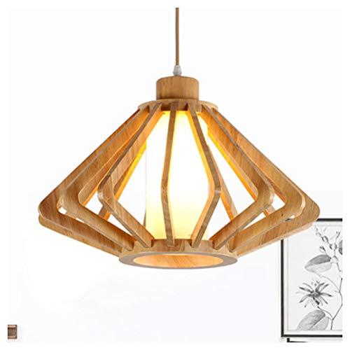 H.L Pendelleuchte Massivholz LED Kronleuchter Persönlichkeit Kreative Pendelleuchte Schlafzimmer Arbeitszimmer Theke Restaurant Cafe Leuchte Deckenventilatoren mit Beleuchtung (Size : 34 * 23CM) -