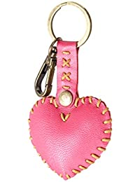 Tribhuja Craft - Heart Shape Key Chain (Valentines Day Gift), Pink - Amore