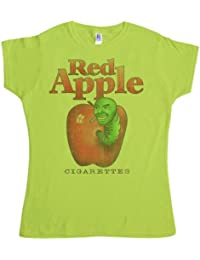Refugeek Tees - Femmes Red Apple Cigarettes T Shirt