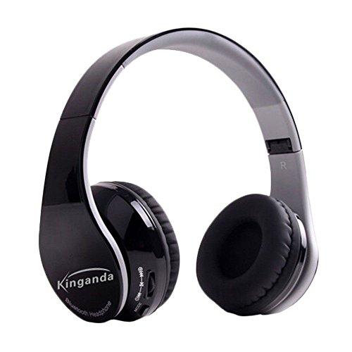 Wireless-Sound-Folding klar Faltbare Bluetooth 4.0 Kopfhörer-Headset - Schwarz