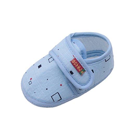 1bcfe40b3068e Chaussures Bébé Binggong Chaussures Nouveau-né bébé Fille et Garçon  Chaussures Souples Semelles Antidérapantes Bloc