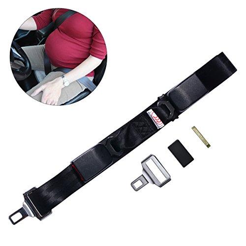OZUAR Embarazo CinturÓN De Seguridad CinturÓNÓN Para El AutomÓVil Asiento De OZUAR Seguridad ElÓVil Ajuste Comodidad Para Las MamÁS Embarazadas Be Belly Protect BebÉ No Nacido 60-145cm Longitud Negro