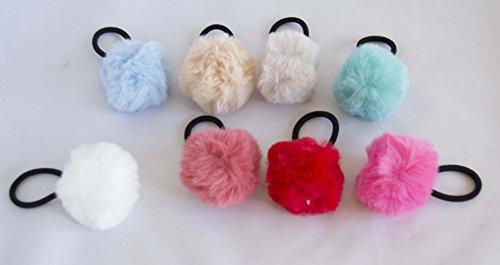 Pack von 6Styling mit Pompons in sortierten Farben. Gratis Versand 72H