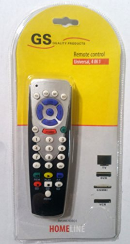 Universal Fernbedienung für TV VCR Combi DVD Receiver 4 in 1 Kombigerät Combi Dvd