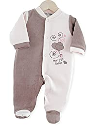 Kinousses Pyjama en Velours pour Fille Rose