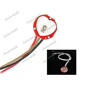 Asiawill® pulsesensor Pulse Capteur de rythme cardiaque Module pour Arduino–Rouge