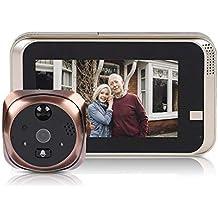 Bewinner Wireless Video Doorbell 4.3inch 720P HD Cámara de seguridad 166 ° Visión nocturna Detección de movimiento WiFi Smart Timbre Timbre de puerta para seguridad en el hogar, Soporte 32G SD TF Card