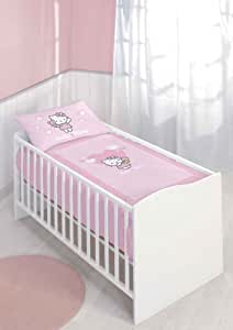 cti housse de couette 80x120 cm taie d 39 oreiller 40x60 cm hello kitty alice. Black Bedroom Furniture Sets. Home Design Ideas