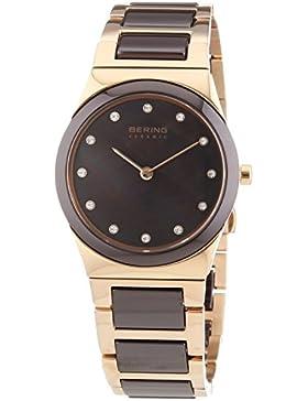 Bering Time Damen-Armbanduhr XS Ceramic Analog Quarz verschiedene Materialien 32230-765