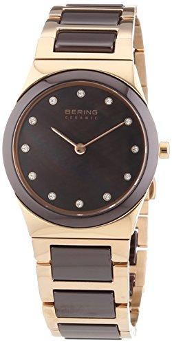 BERING Damen-Armbanduhr Analog Quarz Edelstahl 32230-765