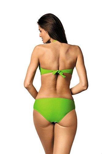 Marko Salma M-254 trendiger Bikini-Set, abnehmbarer Träger, Top Qualität, Made in EU Grün