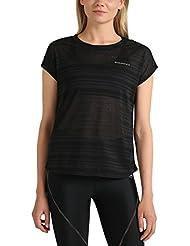 Ultrasport Endurance T-Shirt Skegness für Damen Top mit Rundhalsausschnitt und Ringelmuster aus Jersey, Damen Basic, schlichtes Essential Sport Shirt
