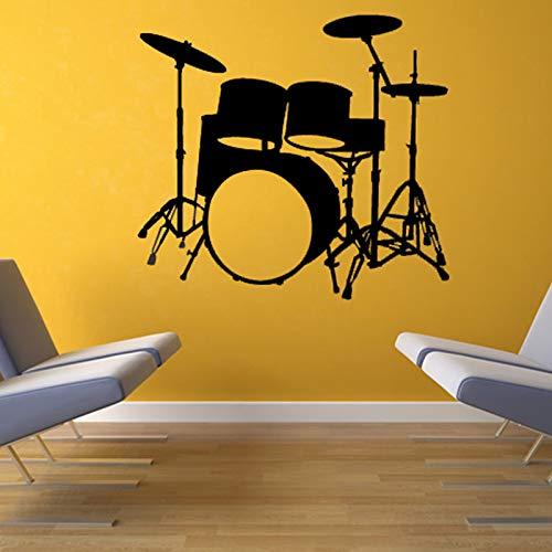 Musikinstrumente Schlagzeug Wandtattoo Home Decor Vinyl Abnehmbare Wasserdichte Wandaufkleber Wohnzimmer 47x44 cm