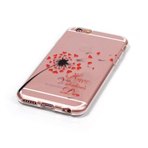 iPhone 6S Plus Coque,iPhone 6 Plus Case,iPhone 6S Plus Cover - Felfy Transparent Ultra Light Mince Slim Gel Souple Soft Flexible TPU Cas Motif Couvrir Protector Housse Anti Scratch Couverture Coloré M Red Love CAS