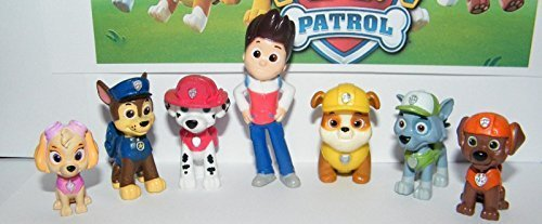 Preisvergleich Produktbild Nickelodeon PAW Patrol Deluxe Mini Figure Toy Play Set of 12 Ryder and 6 Dogs by Nickelodeon