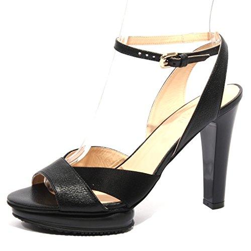 B1253 sandalo donna HOGAN fasce incrociate scarpa nera shoes woman Nero