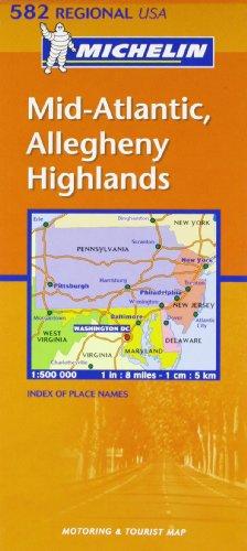 Mid Atlantic, Allegheny Highlands par Michelin