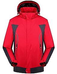 LaoZan - Chaqueta Impermeable para Viajes Senderismo Ciclismo Camping - Hombre - Color 1