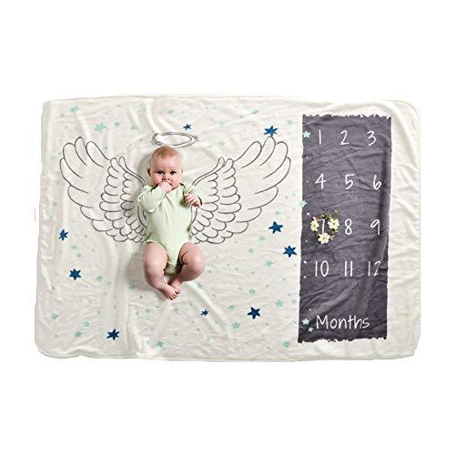 Nwhw Baby Milestone Decke Baby Fotografie Requisiten Monatliche Baby Decken Neugeborenen Engel Flügel Hintergrund Decke Für Foto.6