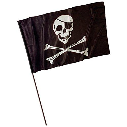 NET TOYS Drapeau pirate drapeau de pirate pirates déco drapeaux drapeau pirate tête de mort déguisement accessoire corsaire flibustier drapeau tête de mort drapeau à tête de mort