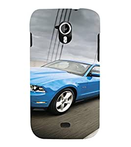 EPICCASE Blue Car Mobile Back Case Cover For Micromax Canvas 2 A110 (Designer Case)