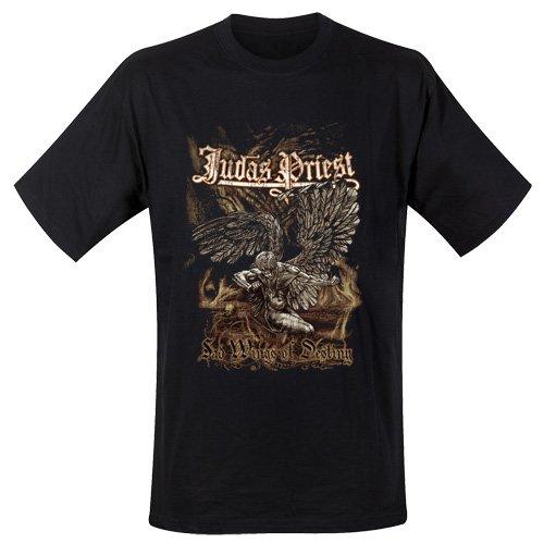 Judas Priest JPTEE05MB - Camiseta Manga Corta de manga corta para hombre, color negro, talla Small
