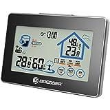 Bresser Thermo / Hygrometer mit Lüftungsempfehlung und Touchscreen, schwarz