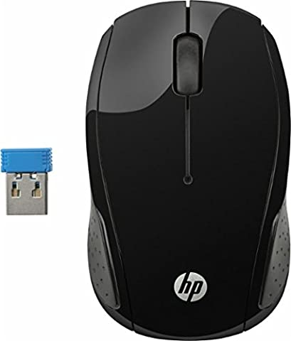 HP 200 (X6W31AA) Wireless Maus (kabellos, 1000 optische Sensoren, LED, 2,4 GHz) schwarz