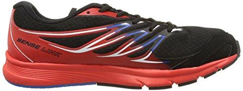 Salomon Sense Link, Sneakers basses homme multicolore (Black/Bright Red/Union Blue)