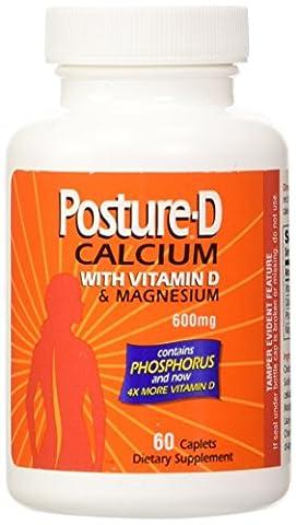 Posture-D - Calcium 600 Mg Supplément De Vitamine D - 60 Comprimés