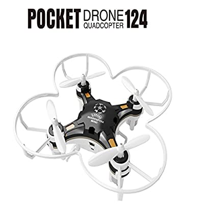 FQ777-124 Mini Micro Nano Drone With Remote Control Transmitter 4CH 6Axis Gyro Pocket Quadcopter CF Mode Headless One Key To Return 3D Roll MAV RTF