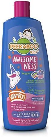 Peekaboo Kids 3 In 1 Shampoo, Conditioner And Body Wash, Awesomeness, 400 ml