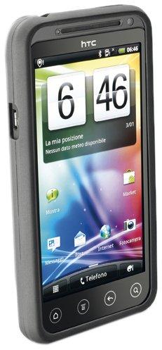 Cellular Line Silikon-Hülle, spezifische Folie und Reinigungstuch für HTC Evo 3D