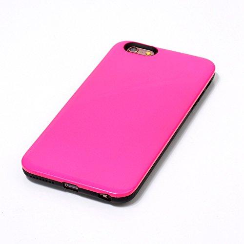 iPhone Case Cover IPhone 6s Plus Fall-Abdeckung, feste Farben-harte rückseitige schützende Plastikabdeckung für Apple IPhone 6s Plus ( Color : Gold , Size : IPhone 6s Plus ) Rose