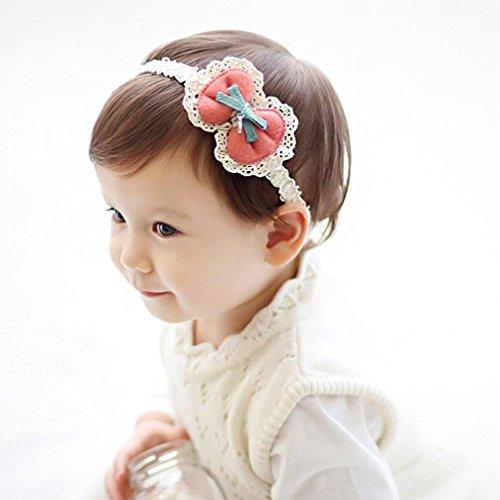 kingko® Fliege Band Mädchen Kopf Zubehör Schmetterling Haarband Baby Headwear Hot Rosa
