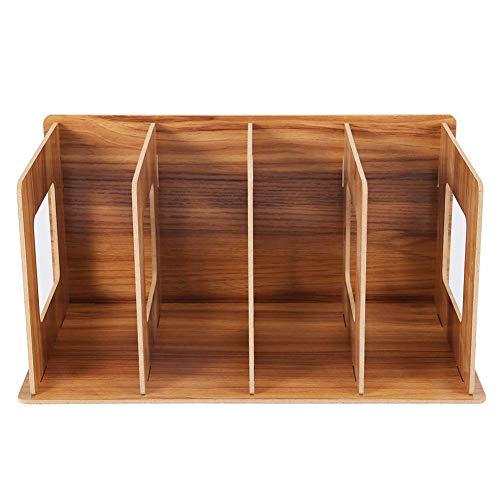 Jeffergarden Holz DIY Desktop Bücherregal Rack Bücher, Lagerung Zeitschriftenhalter für Studenten, Kinder, Erwachsene(Kirsche)