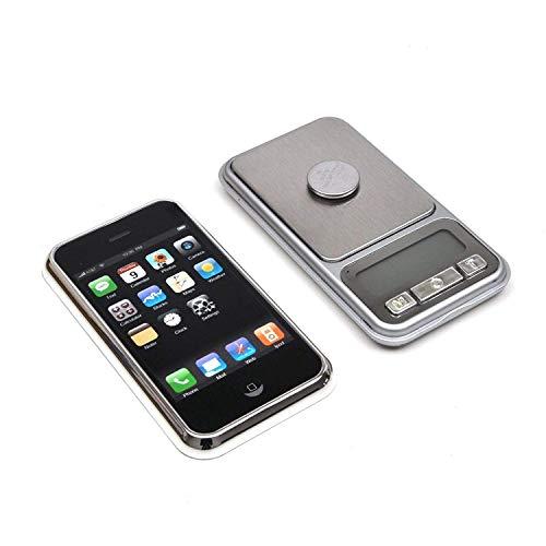 Trimming Shop Digitale Taschenwaage, tragbar, leicht, professionelle multifunktionale iPhone-Waage für Küche, Schmuck, Edelstein, goldfarben, 0.1g-500g