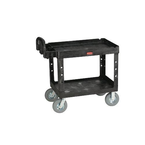 rcp454610bla-rubbermaid-utility-cart-2-shelf-heavy-duty-24x36-pneumatic-caster