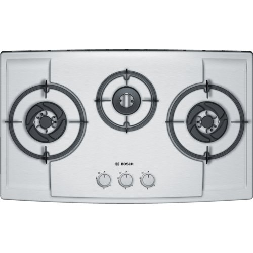 BOSCH Automatic 18/10 Stainless Steel 3 Burner Hob (Pbd7351Ms, Grey)