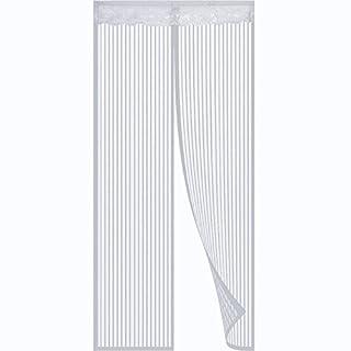 Anpro magnetisches Fliegengitter, Insektenschutz, Tür, Netzvorhang für Türen bis 90x 210cm weiß
