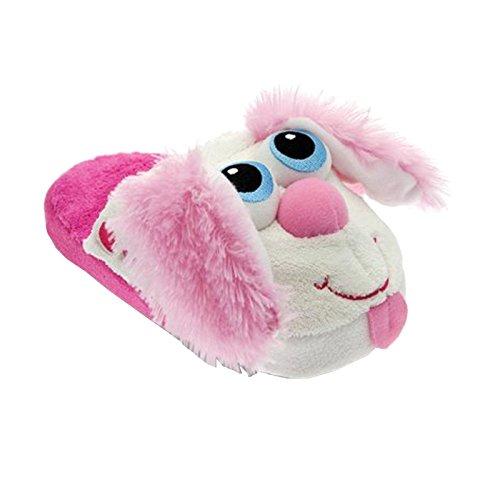 Tierhausschuhe Plüsch Hausschuhe Hund Vogel Monster bewegen sich Pantoffel ! jeder Schritt ist lustig! Kinder, TH-PUMP Hase Pink