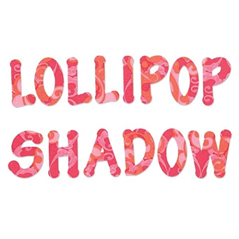 "Sizzix ""Lollipop Shadow Capital Letters"" Alphabet Set 4 Bigz Dies by E.L. Smith"
