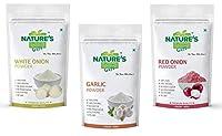 Onion Powder, Garlic Powder & Red Onion Powder - 100 GM Each (Super Saver Combo Pack)