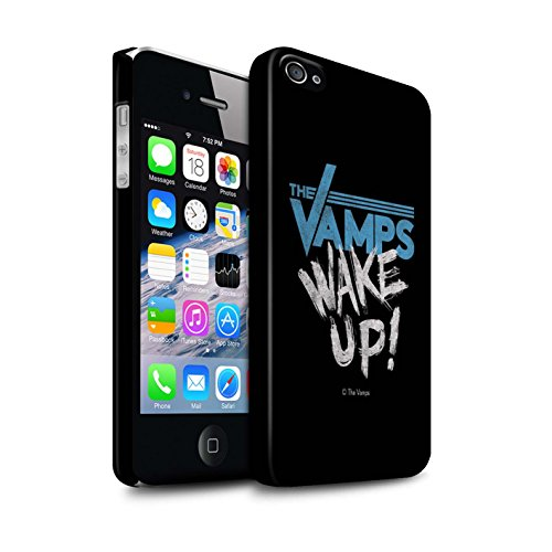 Offiziell The Vamps Hülle / Matte Snap-On Case für Apple iPhone 4/4S / Pack 6pcs Muster / The Vamps Graffiti Band Logo Kollektion Aufwachen!
