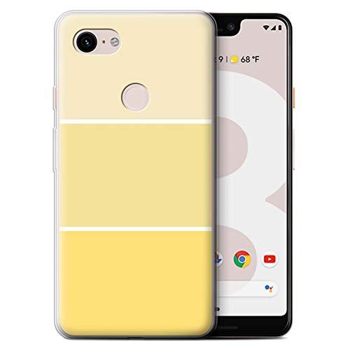 Stuff4® Gel TPU Hülle/Case für Google Pixel 3 XL/Gelb Muster/Pastell Farbton Kollektion