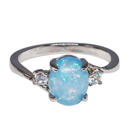 Schmuck Damen-Ring, Dragon868 Exquisite Ring Oval Cut Feueropal -