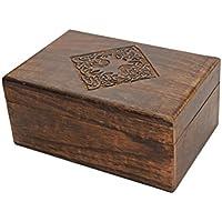 Store Indya, Country Style legno gioielli Trinket Keepsake dell