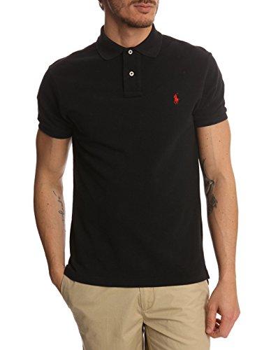 Ralph Lauren Herren Kurzarm Polos - Custom Fit/Custom Slim Fit (Schwarz, L) (Polo-shirt Für Herren Von Ralph Lauren)