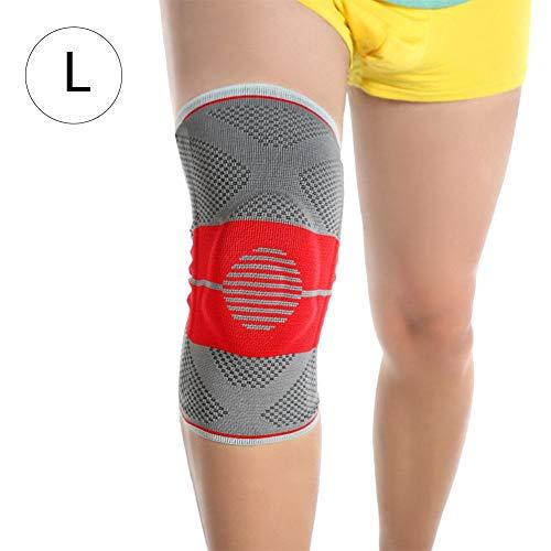 Professionelle Kniebandage Knieschoner, Federstütze zur Erleichterung der seitlichen Verschiebung, nimmt super atmungsaktives Strickgewebe, schnell Feuchtigkeitstransport und fiting die Haut